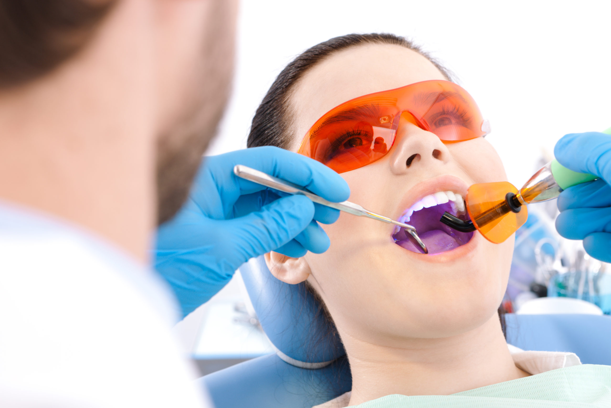 Dr Lozada uses laser technology for tooth whitening